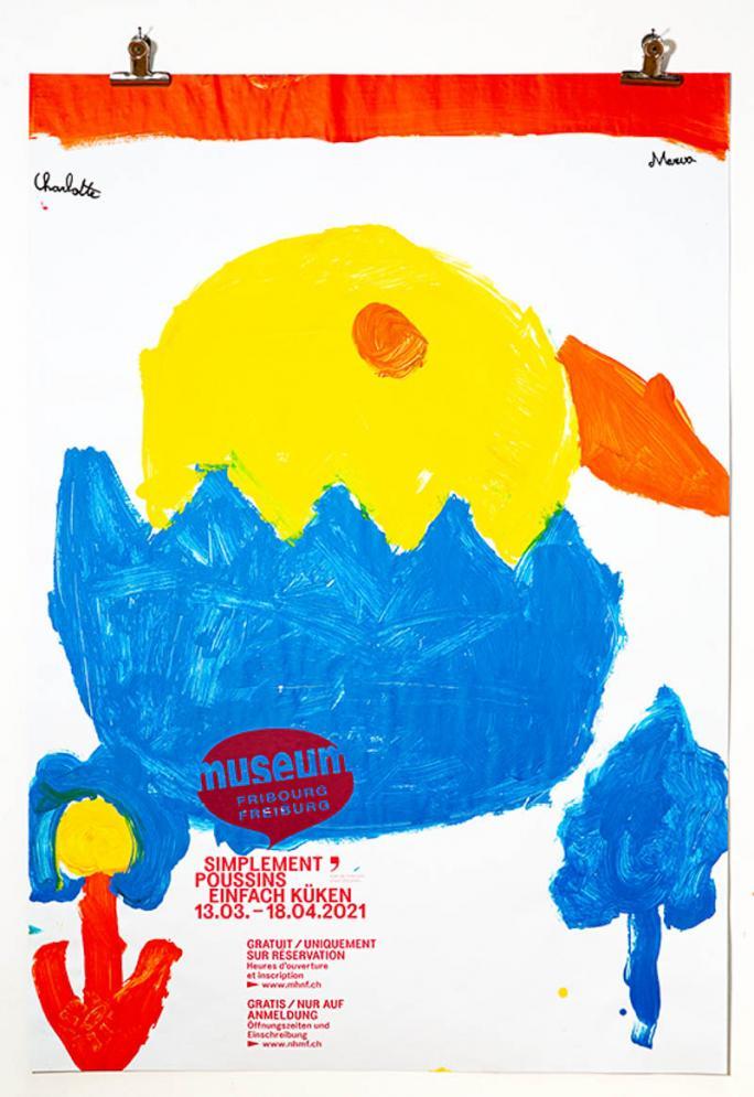 """Eines der Plakate der Ausstellung """"Einfach Küken""""_33"""