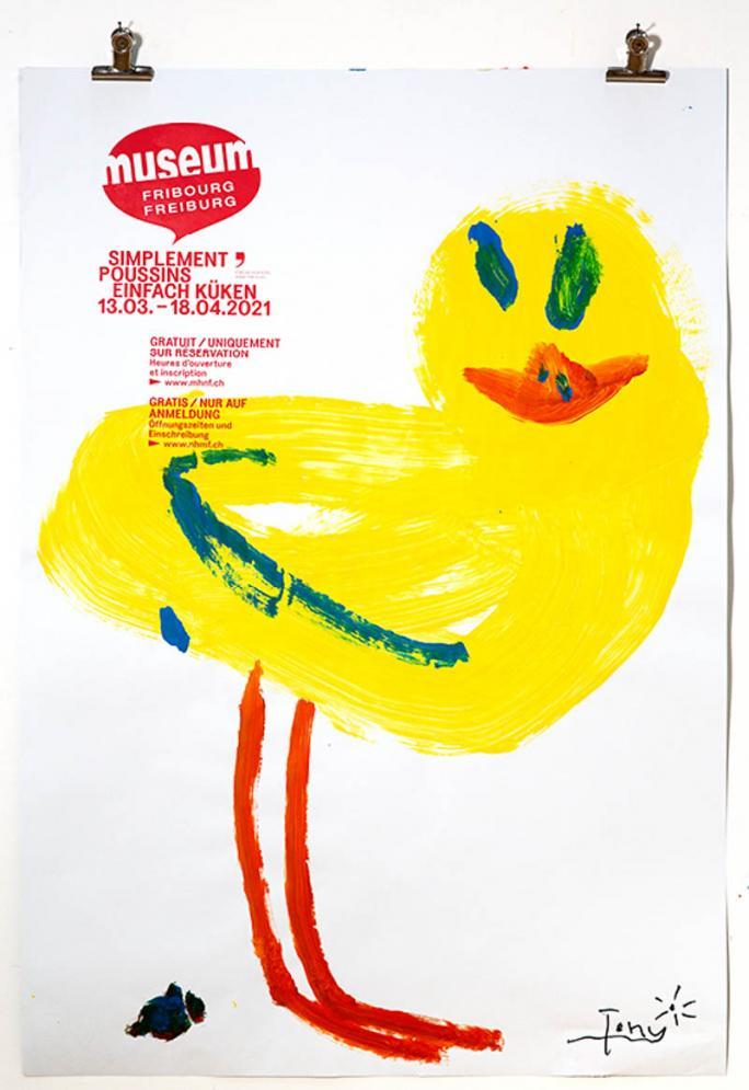 """Eines der Plakate der Ausstellung """"Einfach Küken""""_36"""