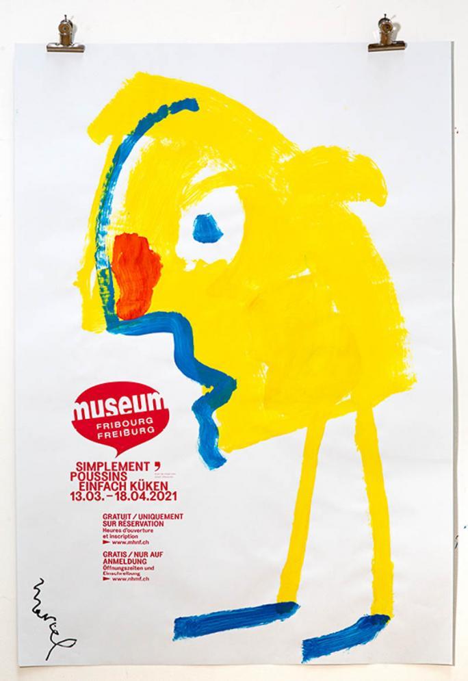 """Eines der Plakate der Ausstellung """"Einfach Küken""""_37"""