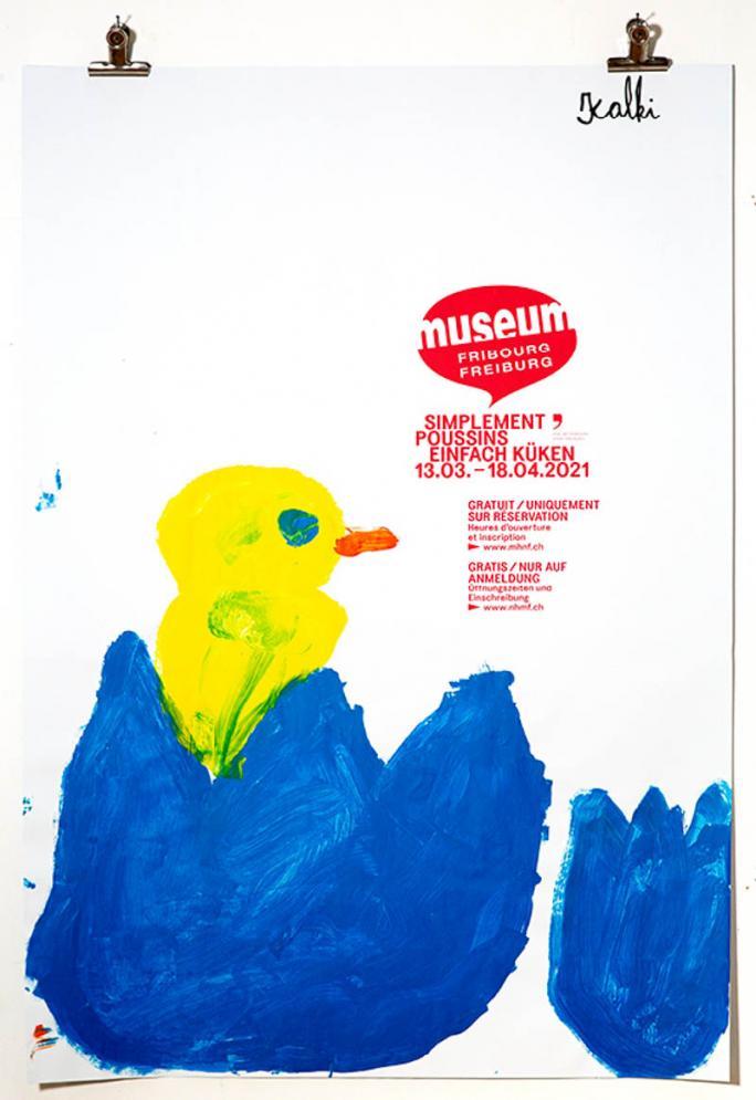 """Eines der Plakate der Ausstellung """"Einfach Küken""""_38"""