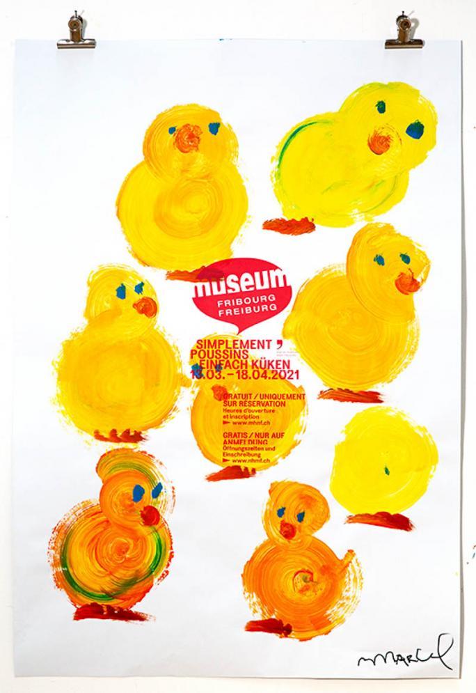 """Eines der Plakate der Ausstellung """"Einfach Küken""""_39"""