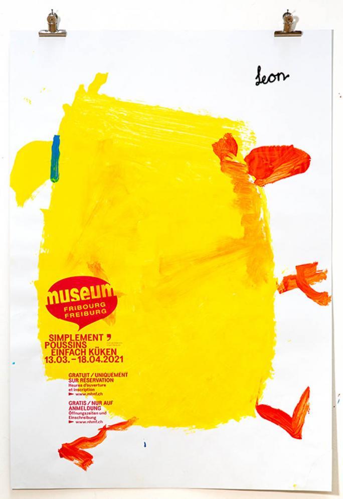 """Eines der Plakate der Ausstellung """"Einfach Küken""""_41"""