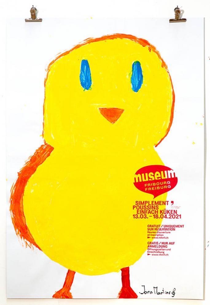"""Eines der Plakate der Ausstellung """"Einfach Küken""""_42"""
