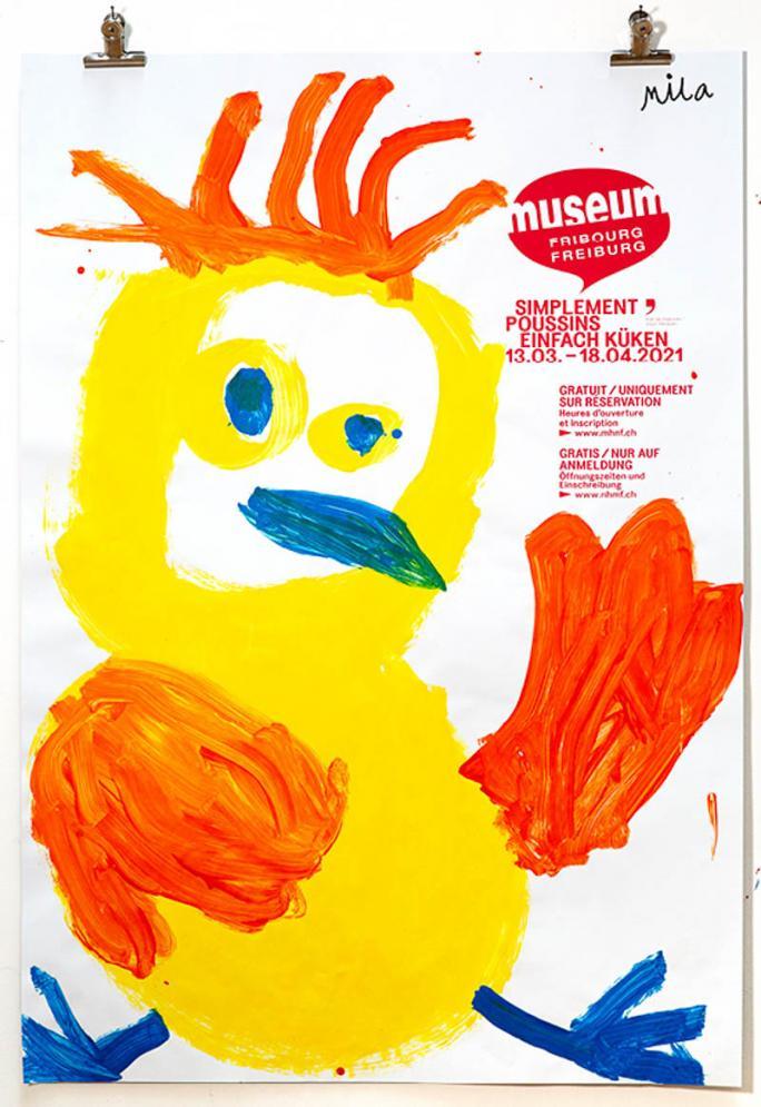 """Eines der Plakate der Ausstellung """"Einfach Küken""""_43"""
