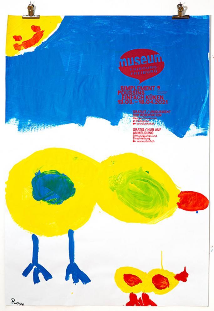 """Eines der Plakate der Ausstellung """"Einfach Küken""""_44"""