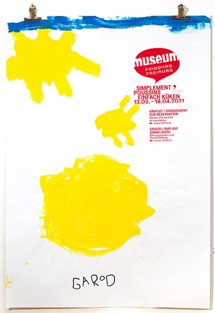 """Eines der Plakate der Ausstellung """"Einfach Küken""""_45"""