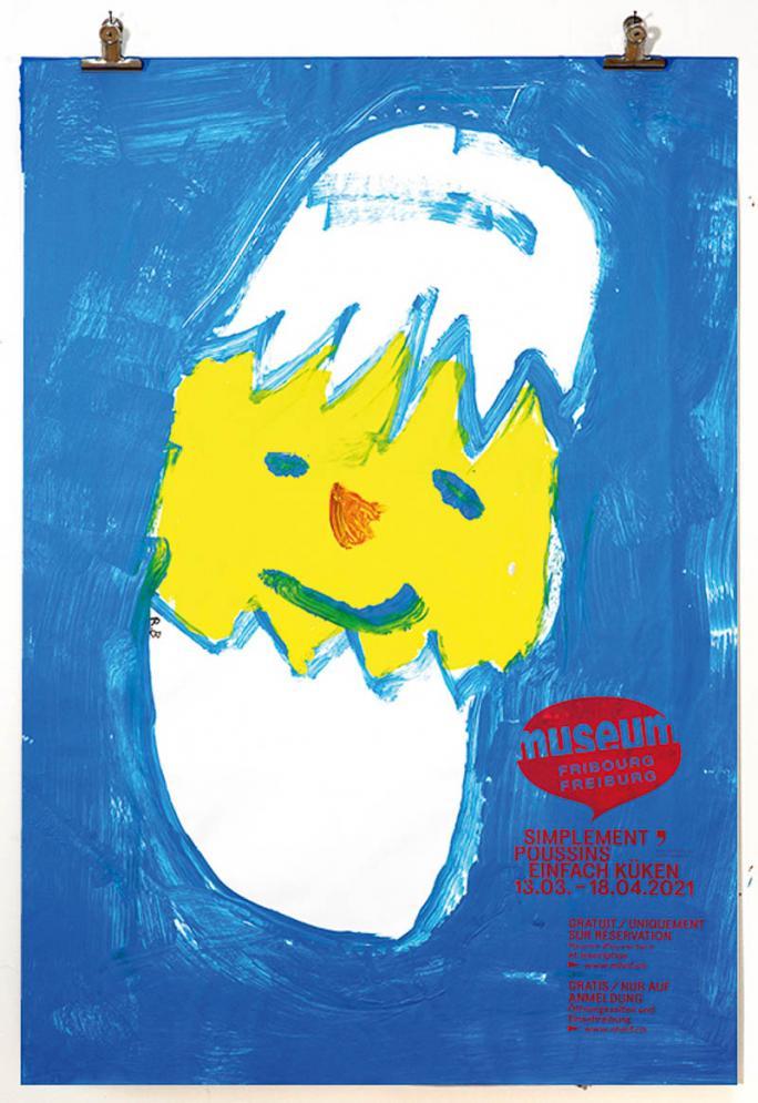 """Eines der Plakate der Ausstellung """"Einfach Küken""""_46"""