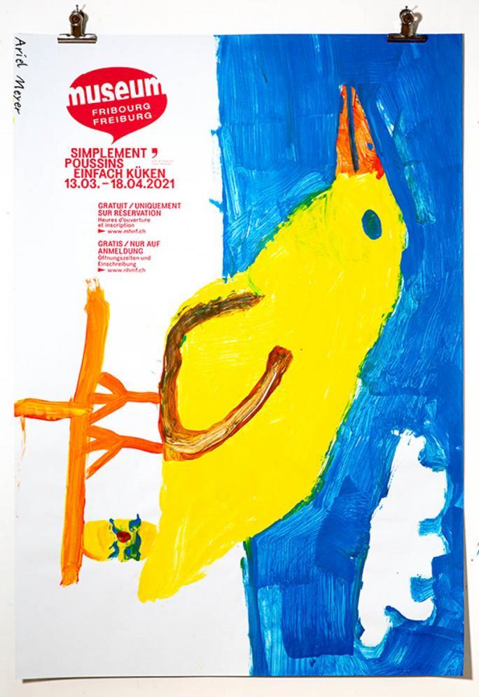 """Eines der Plakate der Ausstellung """"Einfach Küken""""_47"""