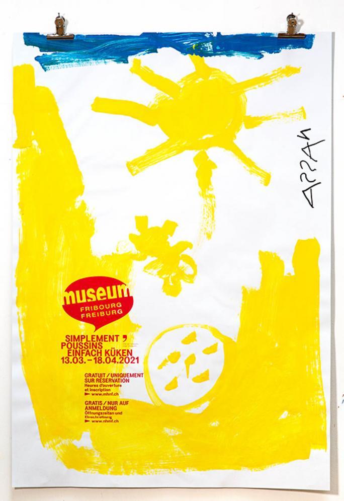 """Eines der Plakate der Ausstellung """"Einfach Küken""""_5"""