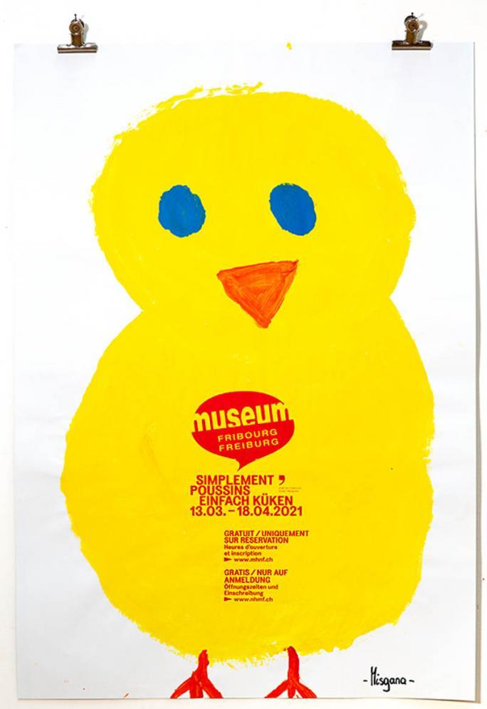 """Eines der Plakate der Ausstellung """"Einfach Küken""""_51"""