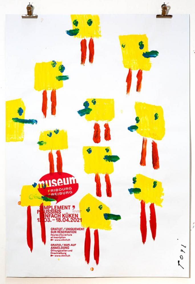 """Eines der Plakate der Ausstellung """"Einfach Küken""""_52"""