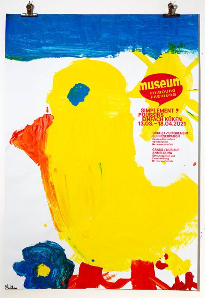 """Eines der Plakate der Ausstellung """"Einfach Küken""""_54"""
