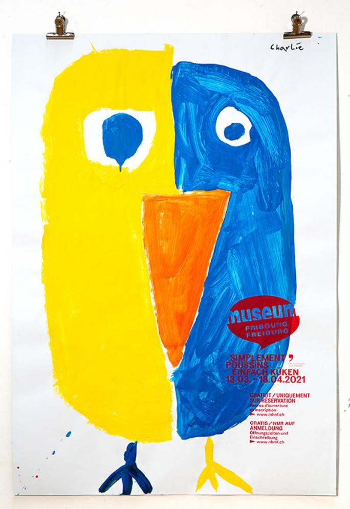 """Eines der Plakate der Ausstellung """"Einfach Küken""""_56"""