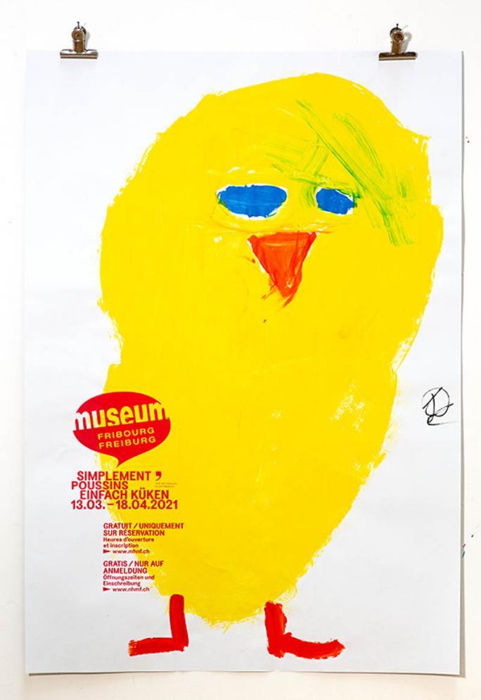 """Eines der Plakate der Ausstellung """"Einfach Küken""""_57"""