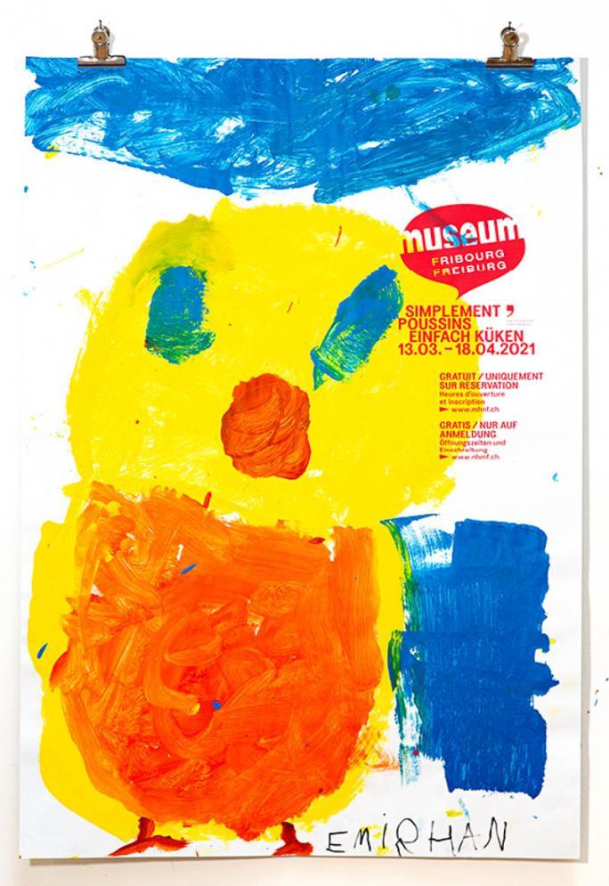 """Eines der Plakate der Ausstellung """"Einfach Küken""""_6"""