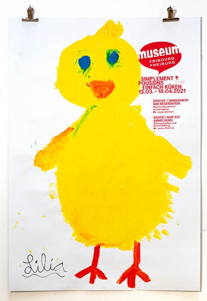 """Eines der Plakate der Ausstellung """"Einfach Küken""""_62"""