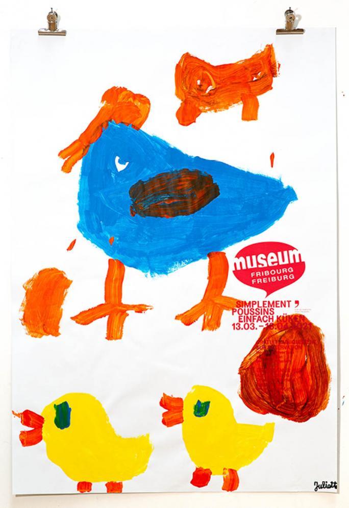"""Eines der Plakate der Ausstellung """"Einfach Küken""""_69"""