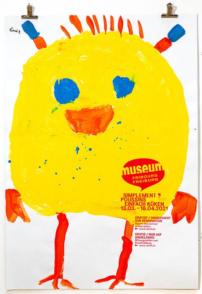 """Eines der Plakate der Ausstellung """"Einfach Küken""""_7"""