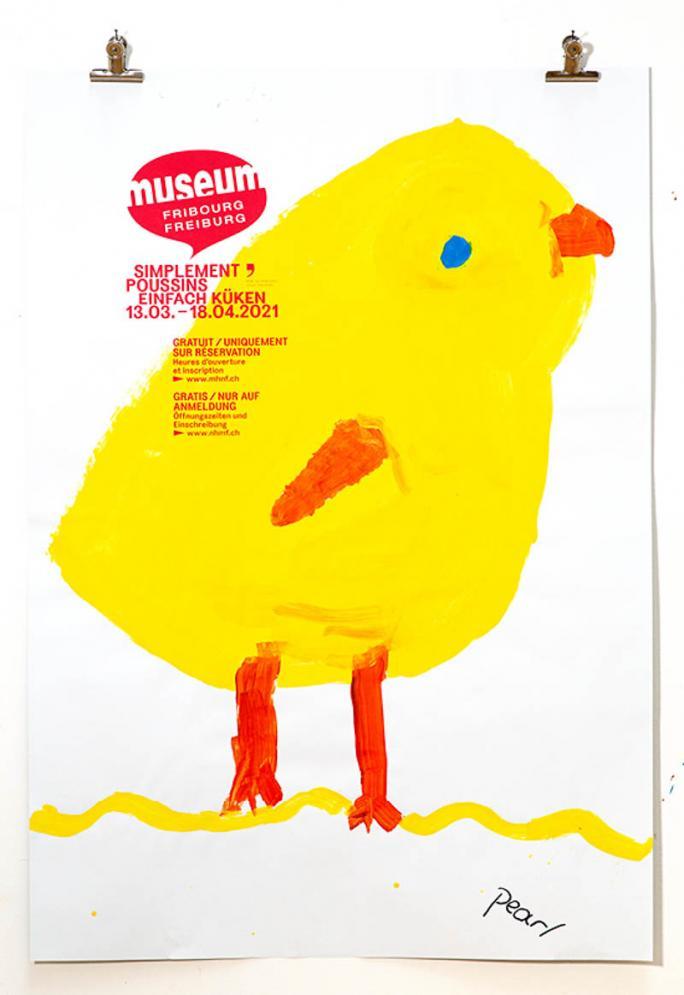 """Eines der Plakate der Ausstellung """"Einfach Küken""""_73"""