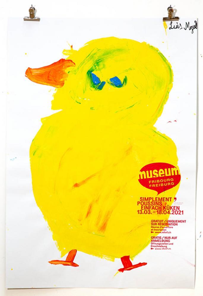 """Eines der Plakate der Ausstellung """"Einfach Küken""""_78"""
