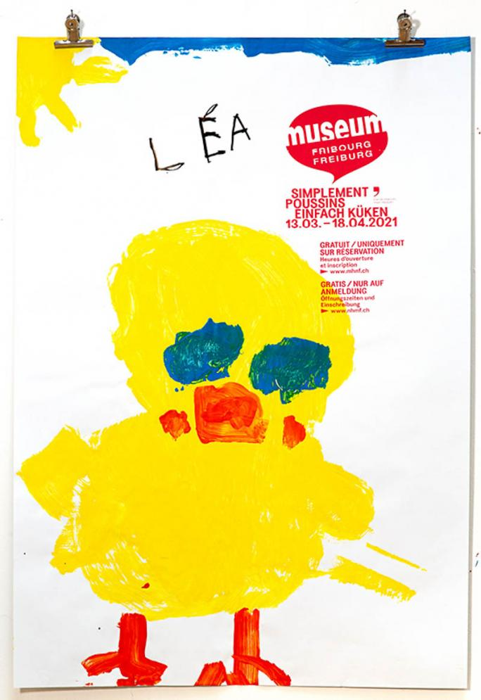"""Eines der Plakate der Ausstellung """"Einfach Küken""""_82"""