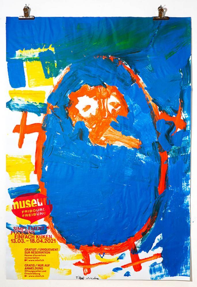 """Eines der Plakate der Ausstellung """"Einfach Küken""""_86"""