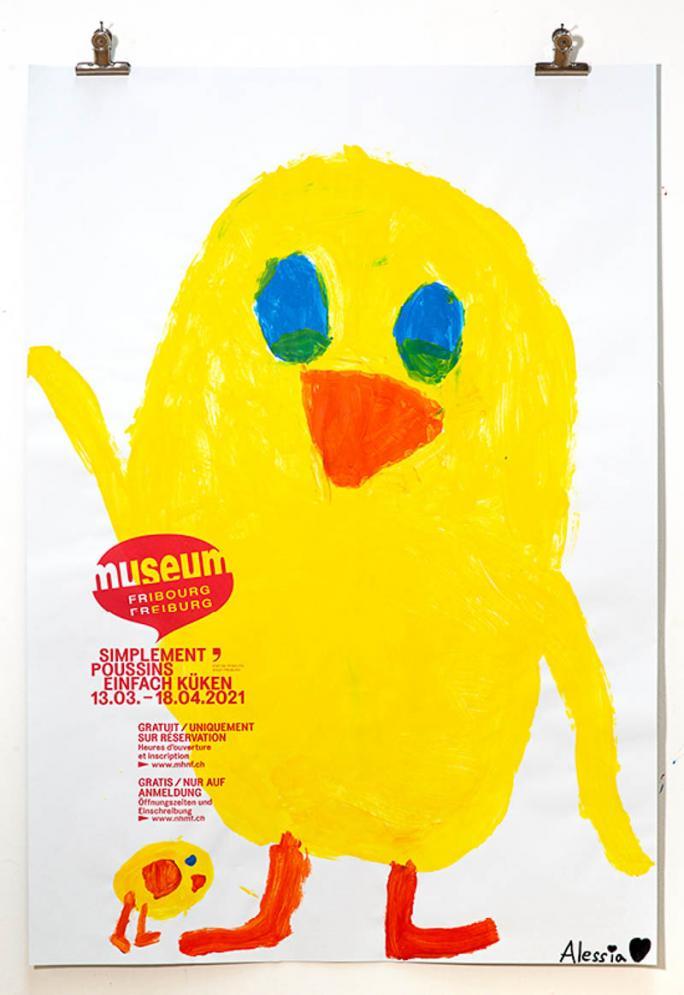 """Eines der Plakate der Ausstellung """"Einfach Küken""""_87"""