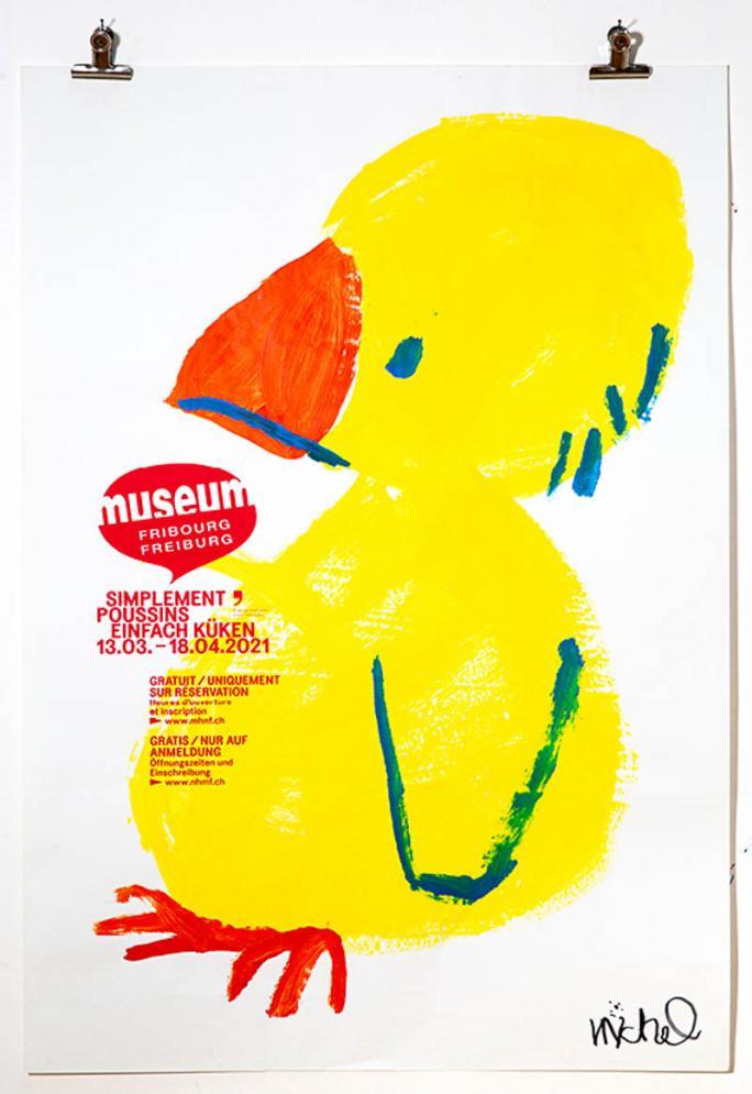 """Eines der Plakate der Ausstellung """"Einfach Küken""""_9"""