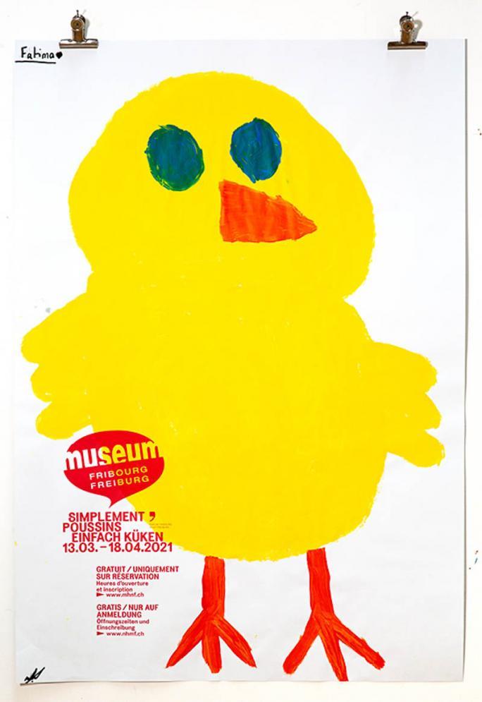 """Eines der Plakate der Ausstellung """"Einfach Küken""""_90"""