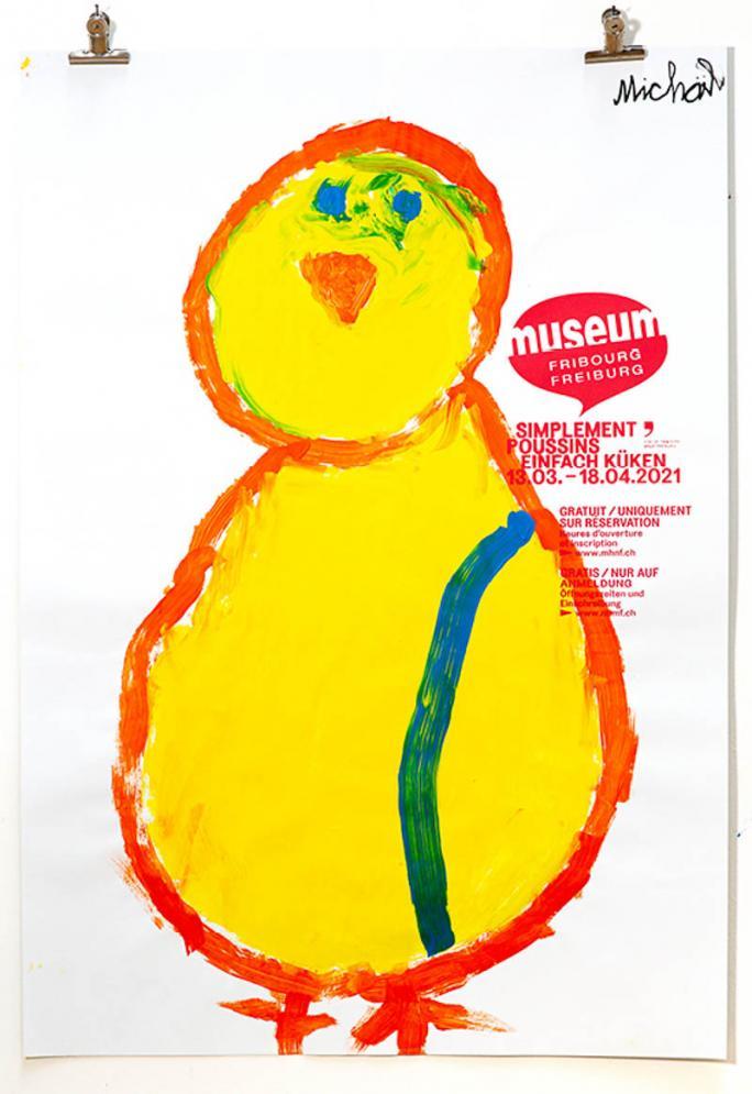 """Eines der Plakate der Ausstellung """"Einfach Küken""""_97"""