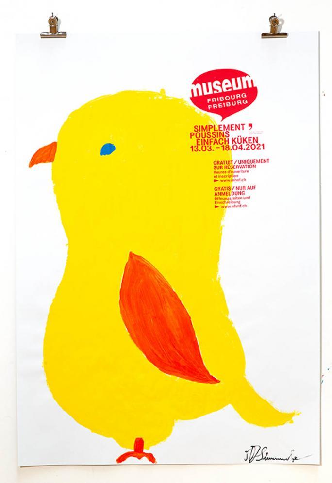 """Une des affiches de l'exposition """"Simplement Poussins""""_102"""