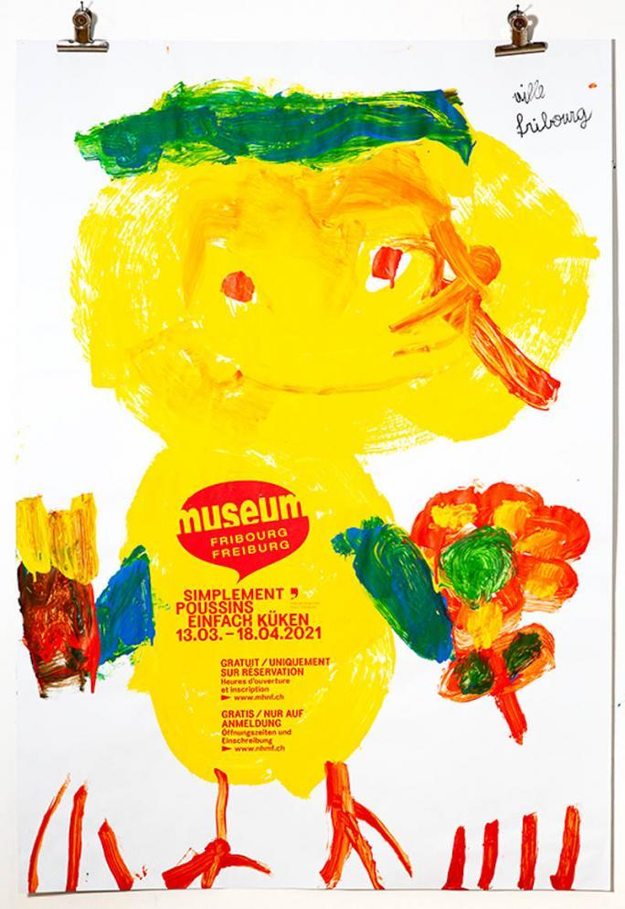 """Une des affiches de l'exposition """"Simplement Poussins""""_103"""