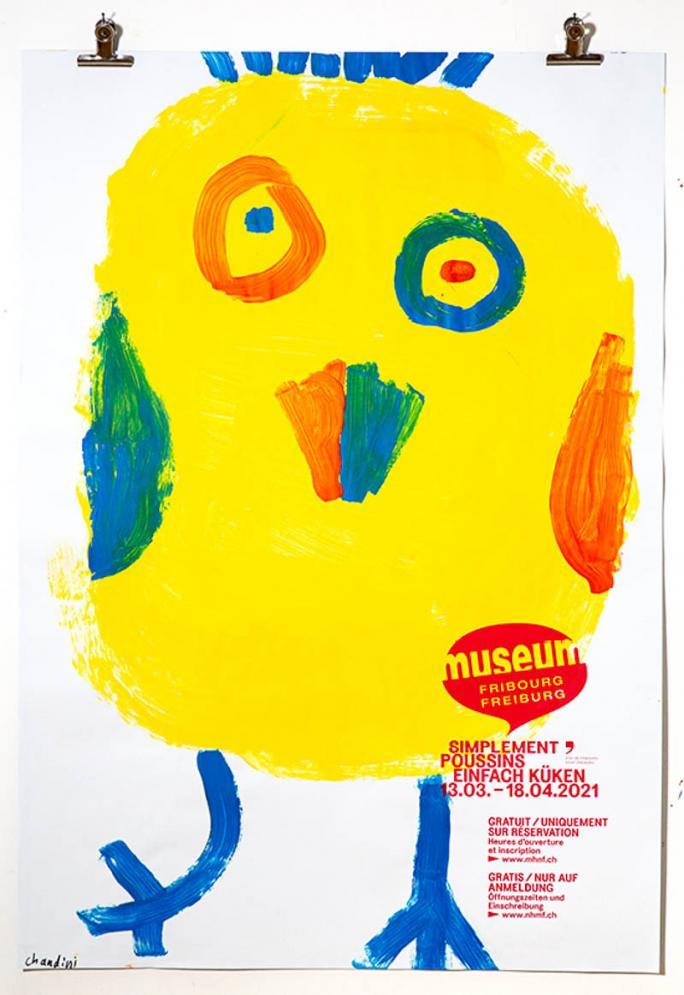 """Une des affiches de l'exposition """"Simplement Poussins""""_105"""
