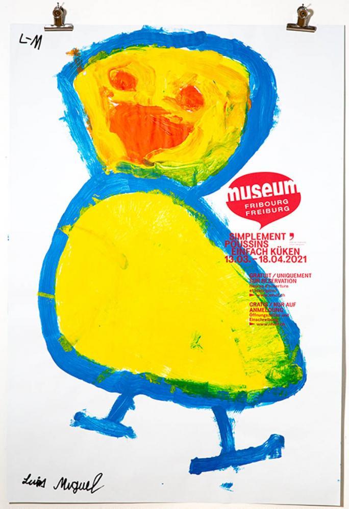 """Une des affiches de l'exposition """"Simplement Poussins""""_111"""