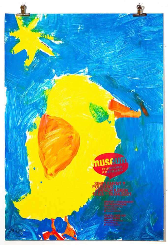 """Une des affiches de l'exposition """"Simplement Poussins""""_112"""