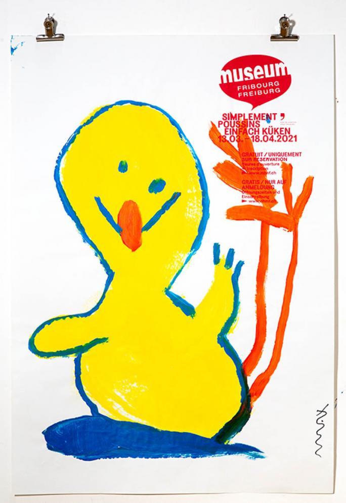 """Une des affiches de l'exposition """"Simplement Poussins""""_114"""
