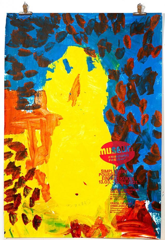 """Une des affiches de l'exposition """"Simplement Poussins""""_117"""
