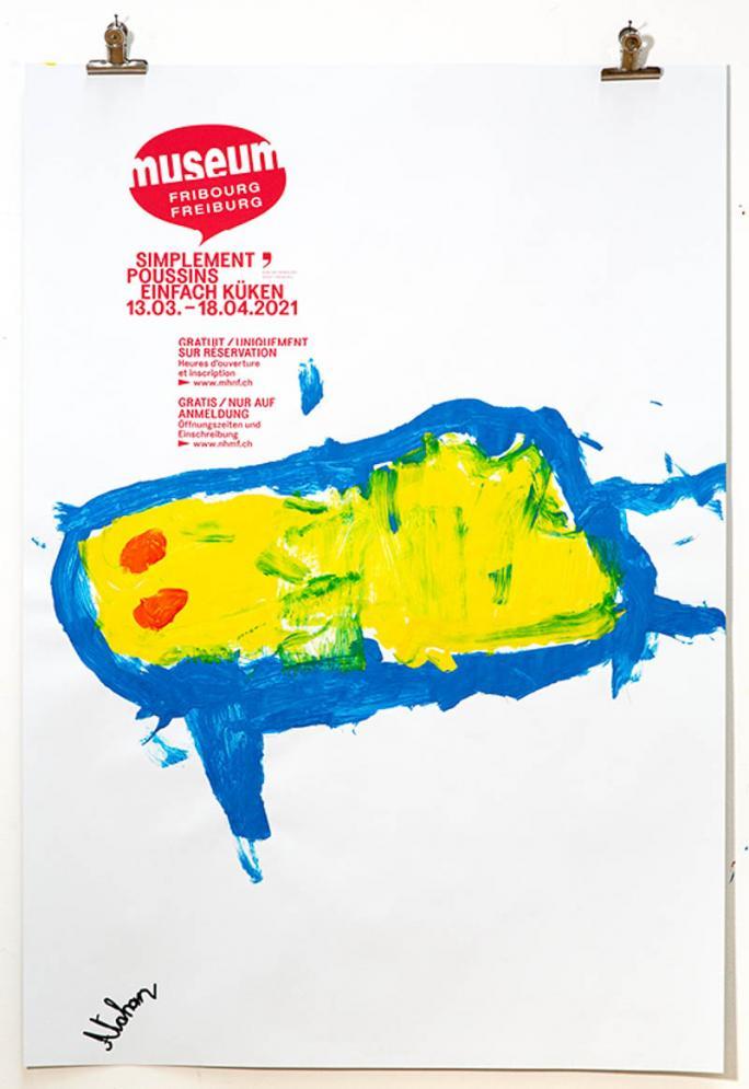 """Une des affiches de l'exposition """"Simplement Poussins""""_118"""