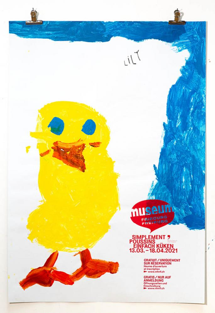 """Une des affiches de l'exposition """"Simplement Poussins""""_12"""