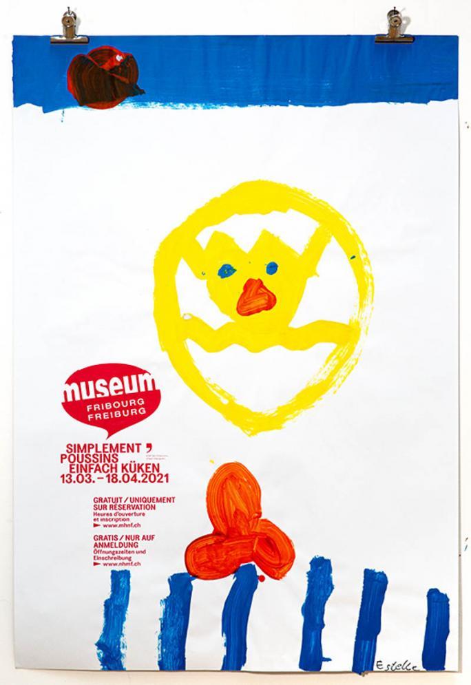 """Une des affiches de l'exposition """"Simplement Poussins""""_121"""