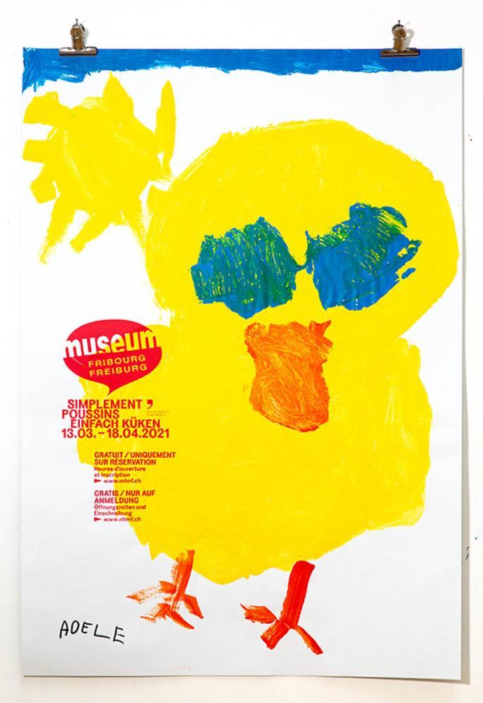 """Une des affiches de l'exposition """"Simplement Poussins""""_15"""