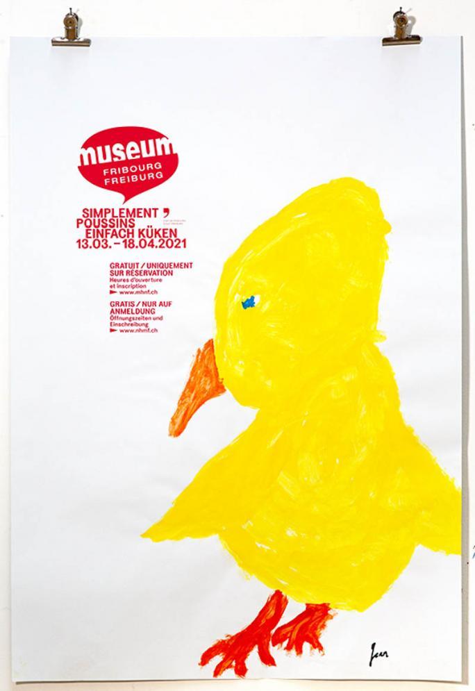 """Une des affiches de l'exposition """"Simplement Poussins""""_18"""