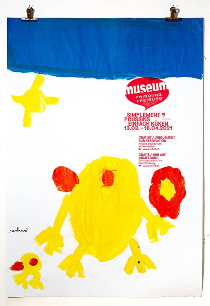 """Une des affiches de l'exposition """"Simplement Poussins""""_20"""