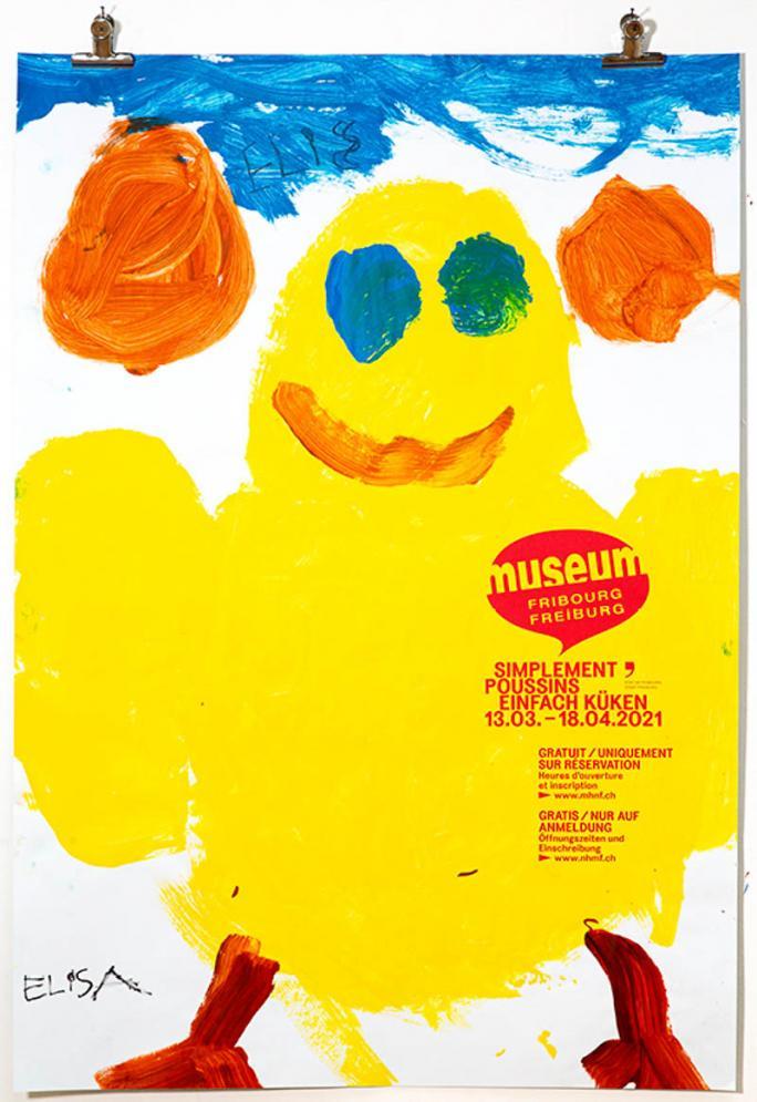"""Une des affiches de l'exposition """"Simplement Poussins""""_21"""