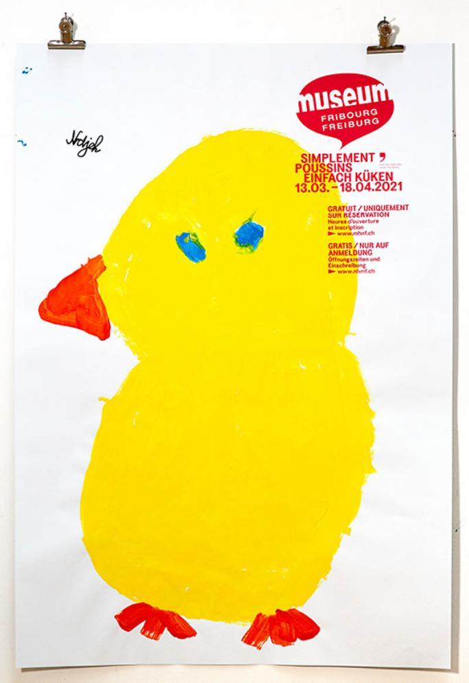 """Une des affiches de l'exposition """"Simplement Poussins""""_23"""