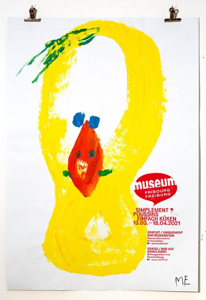 """Une des affiches de l'exposition """"Simplement Poussins""""_28"""