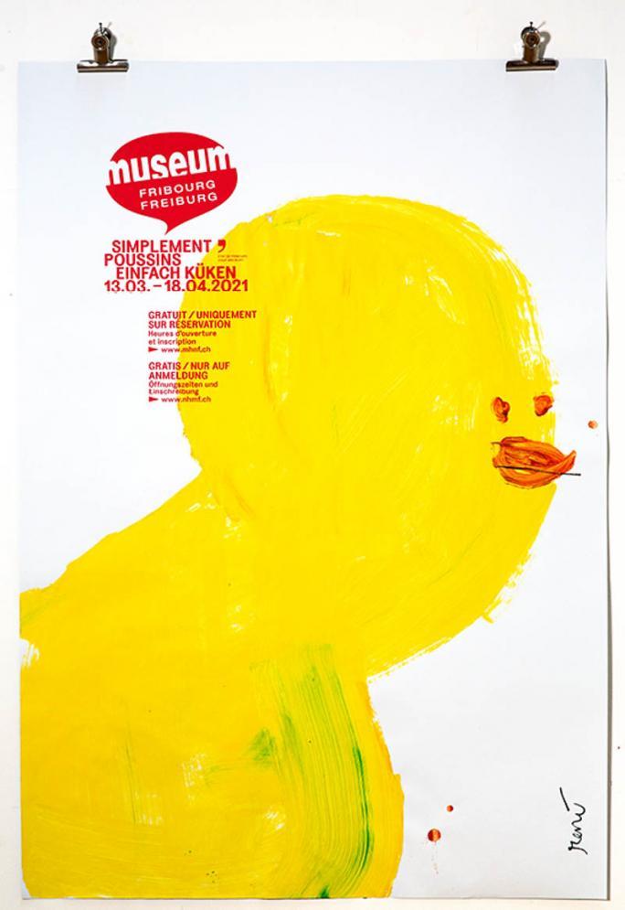 """Une des affiches de l'exposition """"Simplement Poussins""""_4"""