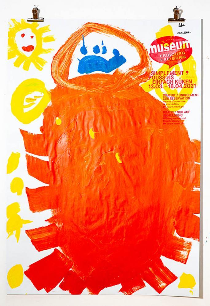 """Une des affiches de l'exposition """"Simplement Poussins""""_55"""