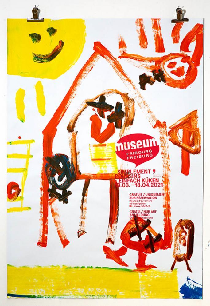 """Une des affiches de l'exposition """"Simplement Poussins""""_59"""