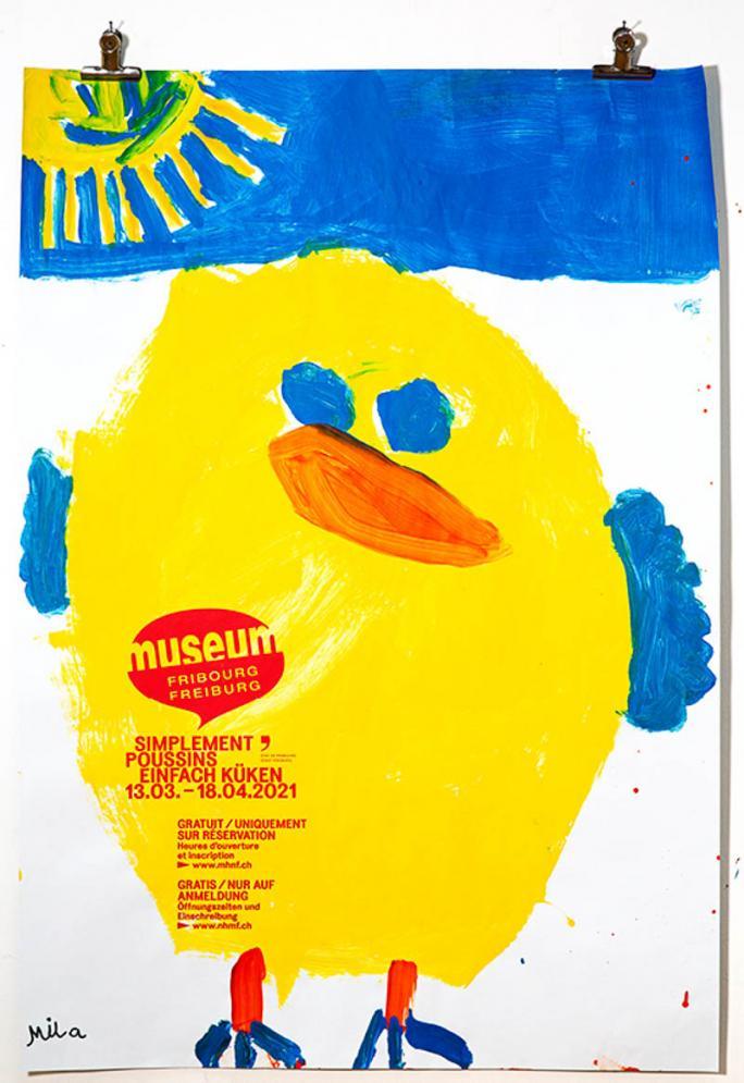 """Une des affiches de l'exposition """"Simplement Poussins""""_61"""